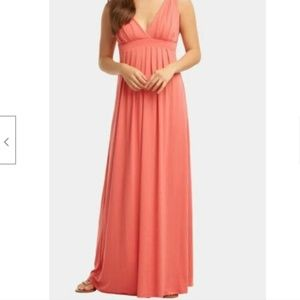 Tart $178 Small Chloe Maxi Dress Coral Pink Long